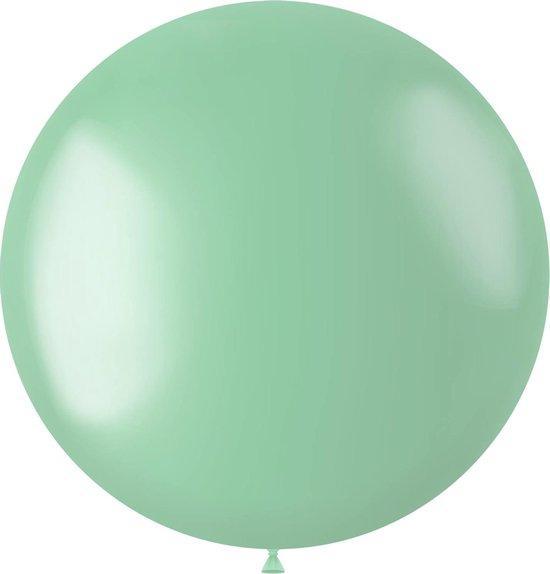 Mintgroene Ballon Metallic Minty Green 80cm