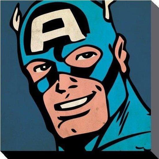 MARVEL COMICS - Canvas 40X40 - CAPTAIN AMERICA Close-Up