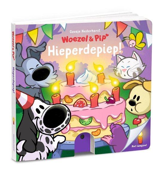 Boek cover Woezel & Pip -  Hieperdepiep! - Kartonboek met lampjes van Guusje Nederhorst (Hardcover)