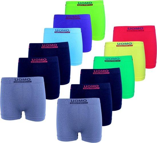 Microfiber Boxershort jongens 915 - Jongens ondergoed - VOORDELIGE 12 PACK 152/158 10-12 jaar