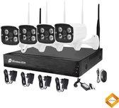 Camera Buiten Beveiliging Systeem - 4 Camera's en Recorder 500GB Harde Schijf Bewakingscamera set
