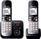PANASONIC KX-TG6822GB - Duo DECT draadloze telefoon, 2 handsets - Antwoordapparaat - zwart