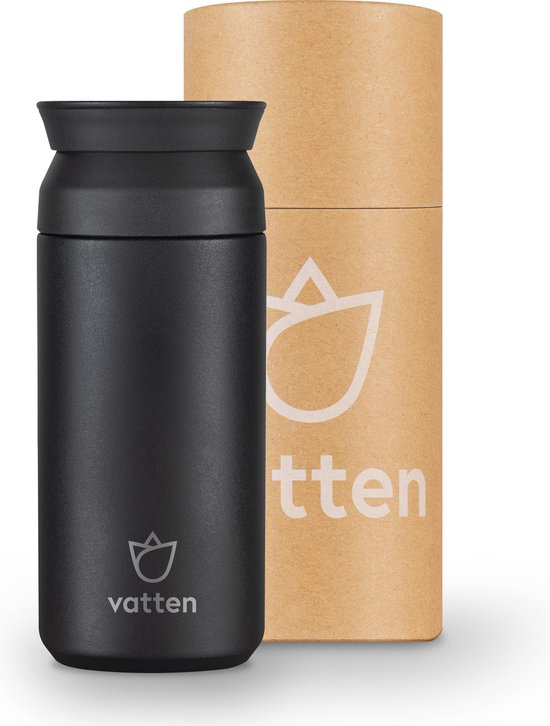 Koffiebeker to go - Thermosbeker - Zwart - 350ml - Koffiebeker Travel Mug - Theebeker