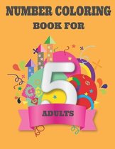 Number Coloring Book for Adults