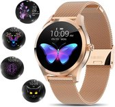 Smartwatch - Smartwatch Dames - Smartwatch Dames Rose Goud - Smartwatches - Smartwatch Android - Smartwatch IOS -
