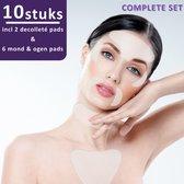 Simia™ Complete Set Anti Rimpel Beauty Pads 10 STUKS tegen Lijntjes en Rimpels - Decolleté hals & gezicht - Anti aging - Huidverzorging voordeelset