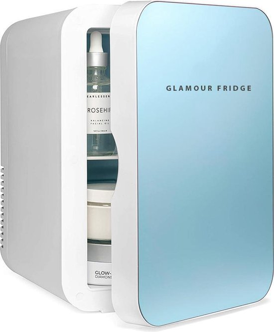 Mini koelkast: Skincare Beauty Glamour Fridge 4 Liter- Make up Koelkast & Organizer Blauw, van het merk GLAMOUR FRIDGE
