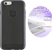 BackCover Layer TPU + PC - Telefoonhoesje - Hoesje voor Apple iPhone 8 Plus/7 Plus - Zwart