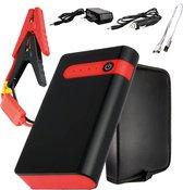 TechGenics 4-in-1 Jumpstarter – Acculader 12V - Starthulp - 20.000MaH - Met Ingebouwde Powerbank en Zaklamp - USB 5V/2.1A Poort - Incl. Draagtas - Voor Auto, Scooter, Boot en Motor - Rood/Zwart