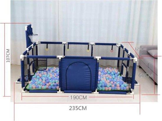 XL speelbox Blauw - Playpen - GrondBox - Baby Grondbox - BuySafe247 - Inclusief muggenclip set