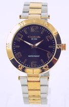 Catch - the time - bicolor - quartz horloge - met RVS stalen band - geschroefd achterdeksel - ar.91963414