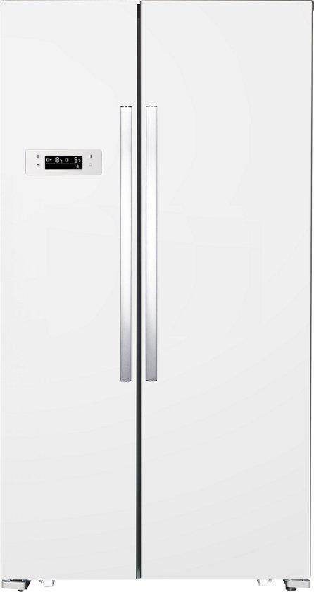 Koelkast: Exquisit SBS130-040FW - Amerikaanse koelkast, van het merk Exquisit