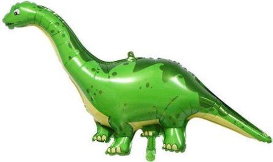 Dino ballon - Groen - XXL - 55x128cm - Ballonnen - Dino feest - Thema feest - Verjaardag - Helium ballon - dinosaurus ballon - Folie ballon