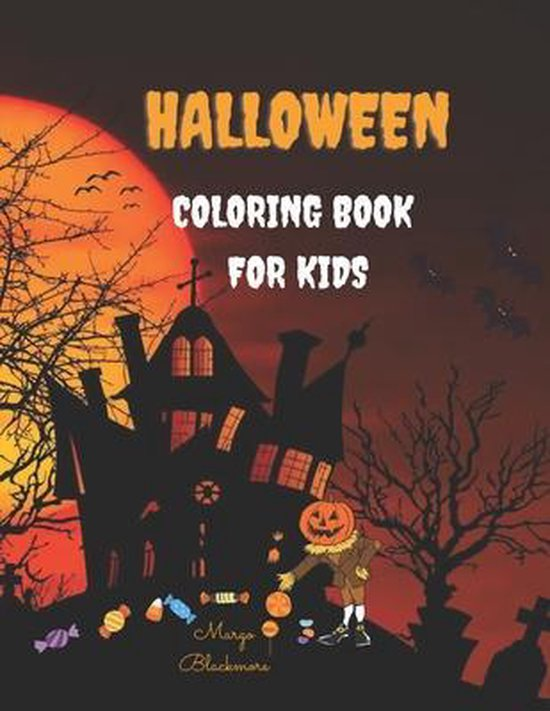Halloween Coloring Book For Kids: 100 Page Halloween Coloring Book for Kids