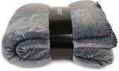 GAEVE | Zest - Fleece deken -  Heerlijk zacht - Vacht Spikkel Grijs 125 x 150