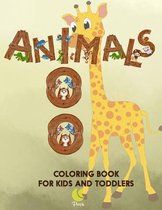 100 Animals Coloring book for kids and toddlers