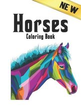 New Coloring Book Horses