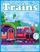 Trains Coloring Book For Kids