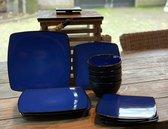 Camping servies - 12 delig – 100% Melamine servies set – Campingservies – Melamine servies - Blue Ocean