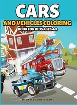 Cars and Vehicles Coloring Book for Kids Ages 4-8