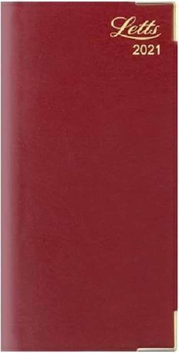 Letts of London Lexicon Slim Week to View Diary with Appointments 2021 Burgundy