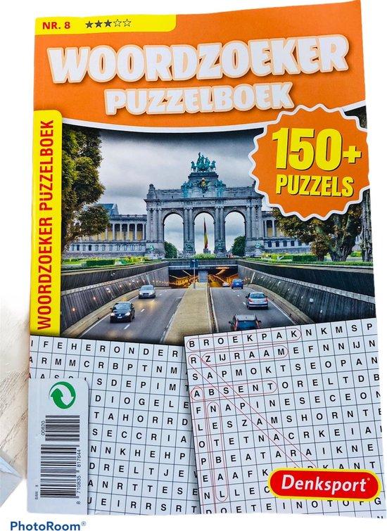 Afbeelding van Denksport Puzzelboek Woordzoeker 3* vakantieboek 150 plus puzzels