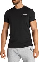Björn Borg Logo Tee Black Beauty - heren shirt maat M