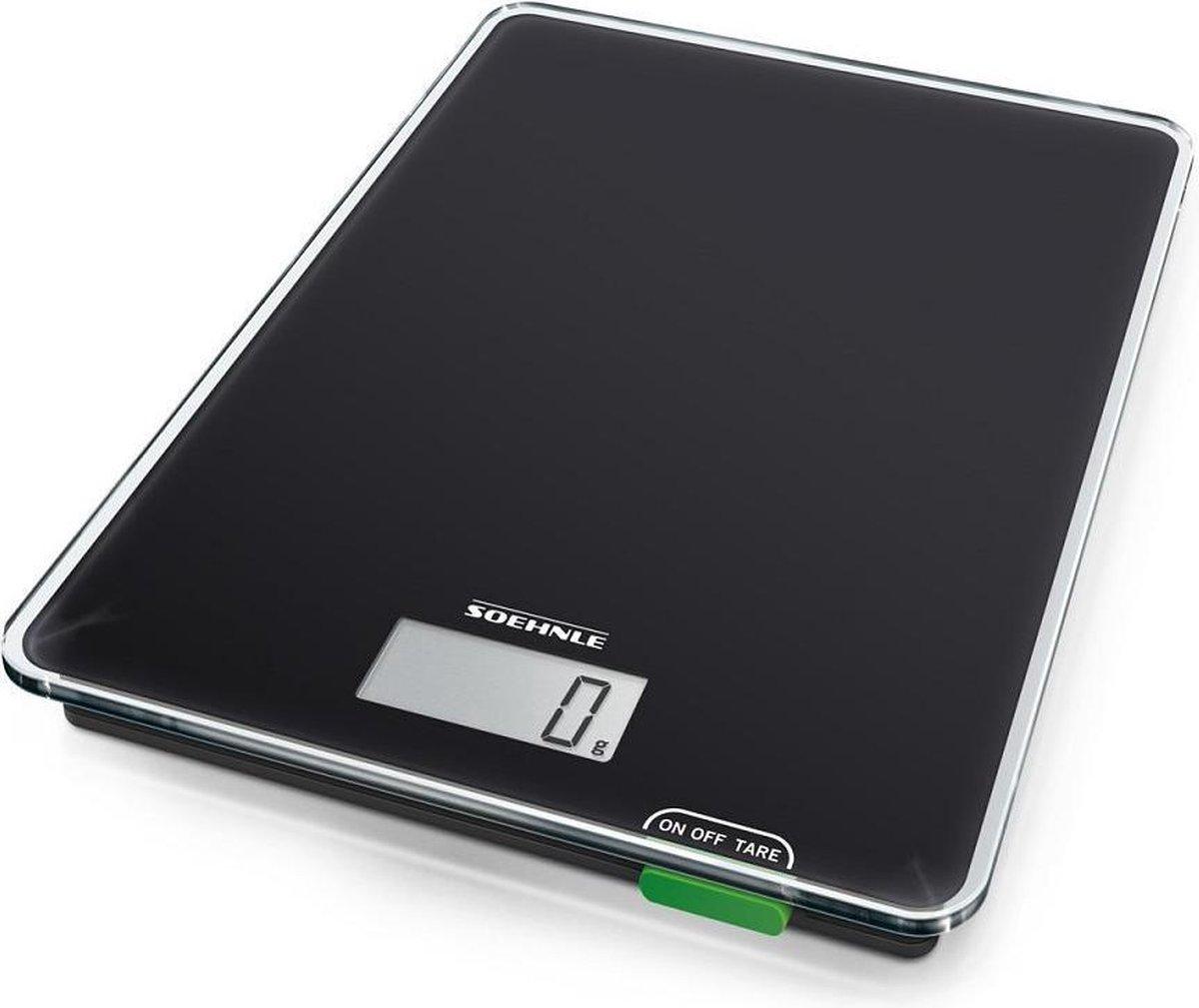 Soehnle Keukenweegschaal Page Compact 100 - Tot 5 kg - Zwart op De Prijzenvolger