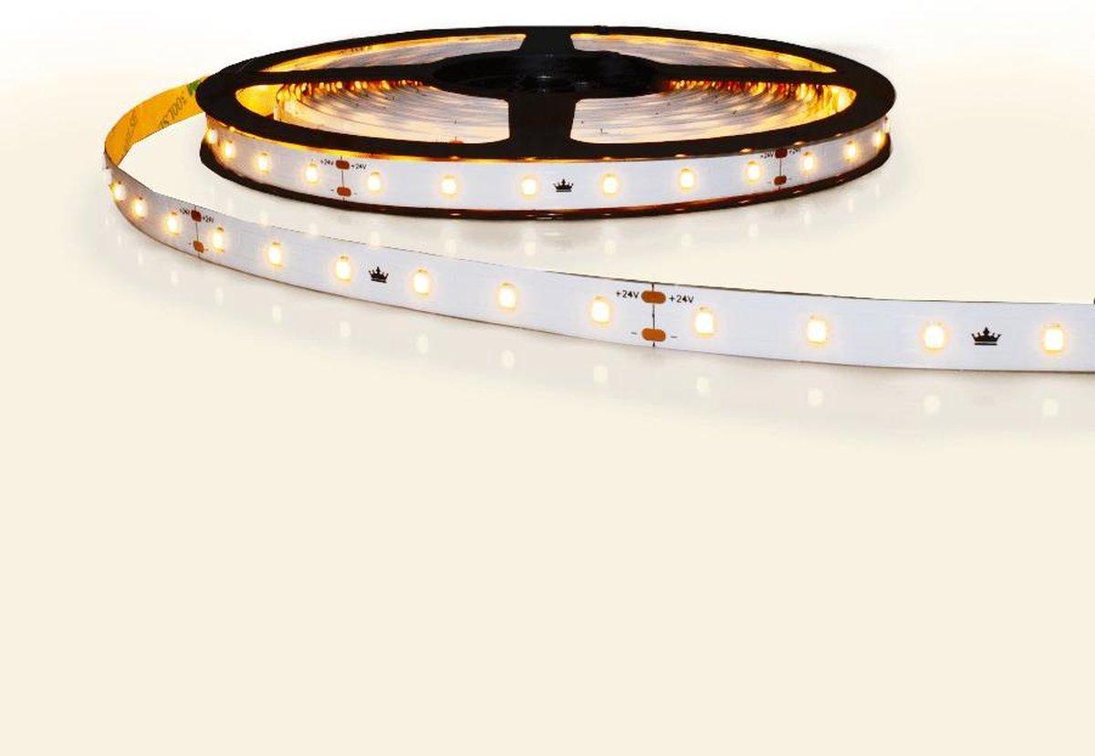 10 meter constant current led strip IP20 24V - 1 lange lengte - 600 leds warm wit 2700K