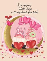 I'm spying Valentine activity book for kids