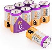 GP Extra Alkaline batterijen C Baby LR14 batterij 1.5V - 8 stuks C batterijen