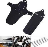 Ass Saver Spatbord Set - Achterspatbord + Voorspatbord - Spatbordset Mountainbike en Racefiets - Zwart