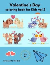 Valentine's Day coloring book for Kids vol 2