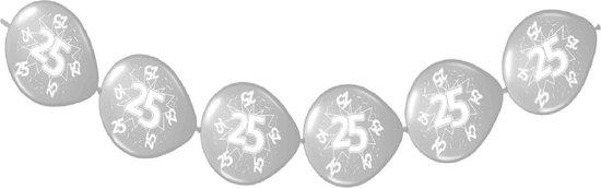 Folat - Ballonnenslinger - 25 Jaar - Jubileum - Zilver - 3m