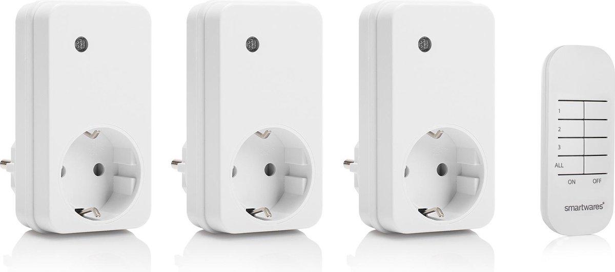 Smartwares SH4-99552 Schakelset - 3 draadloze schakelaars - Incl. afstandsbediening