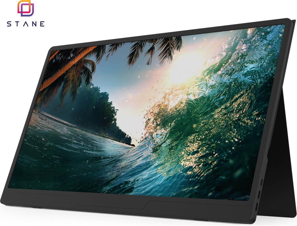 ®?Stane Polestar – IPS Portable monitor – Full HD – HDMI & USB-C – Inclusief powerbank 20.000 mah – 15.6 Inch