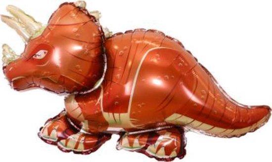 Dino ballon bruin - XXL - 60x110cm - Ballonnen - neushoorn - Dino feest - Thema feest - Verjaardag - Helium ballon - dinosaurus ballon - Folie ballon