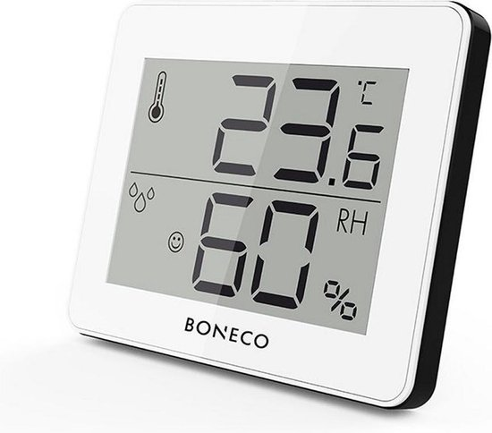Boneco X200 Thermo-Hygrometer met LCD-Display Wit