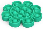 Pop It Fidget  - bloem vorm -  groen  – tik tok trend -  Pop it fidget toy