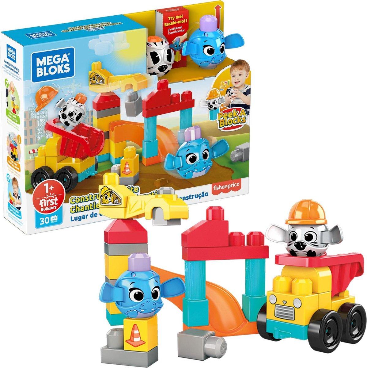 Fisher Price Mega Bloks - Peek a Blocks Constructie Site Bouwset