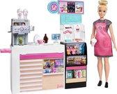 Barbie Koffieshop Speelset - Modepop