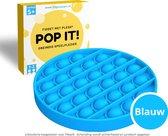 Fidget Toys Pop It Speelgoed - Cirkel Blauw - Met handleiding - Pless®