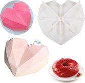 Siliconen mal Hart - 3D Diamanten Hart- 3D Bakvorm -Heart Mold - Smash Heart - Tiktok