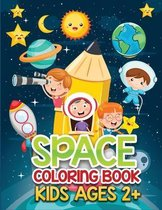 space coloring book kids ages 2+