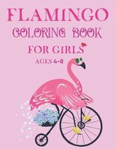 Flamingo Coloring Book For Girls Ages 4-8