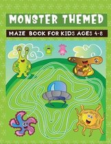 monster themed maze book for kids ages 4-8