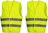 Veiligheidsvest Volwassenen - 2 Stuks – Geel - Veiligheidsvest Auto - Reflecterend Vest