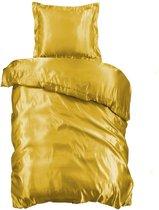 Beauty Silk Dekbedovertrek - 140x200/220 - Glans Satijn - Goud
