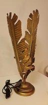 lamp - Waai Blad  -Antiek  Goud - 58cm .