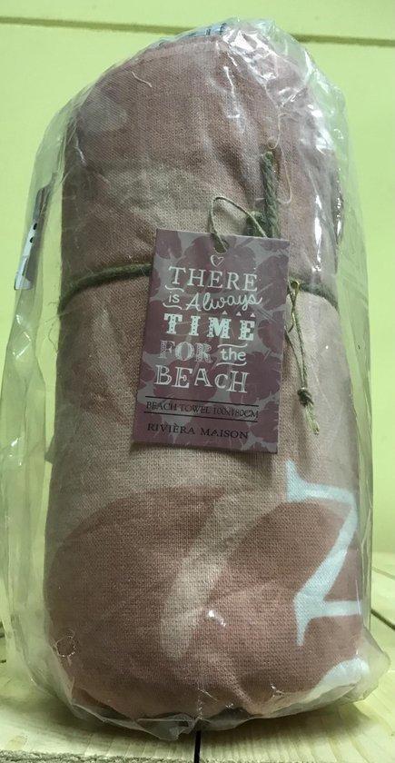 Riviera Maison Time For The Beach  - Strandlaken - 180x100 cm - roze - Riviera Maison